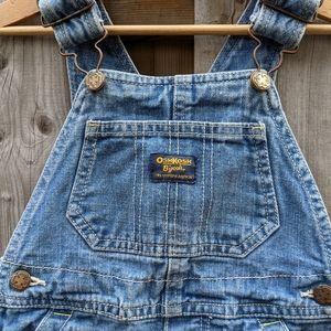 Oshkosh kids Jean denim overalls shorts